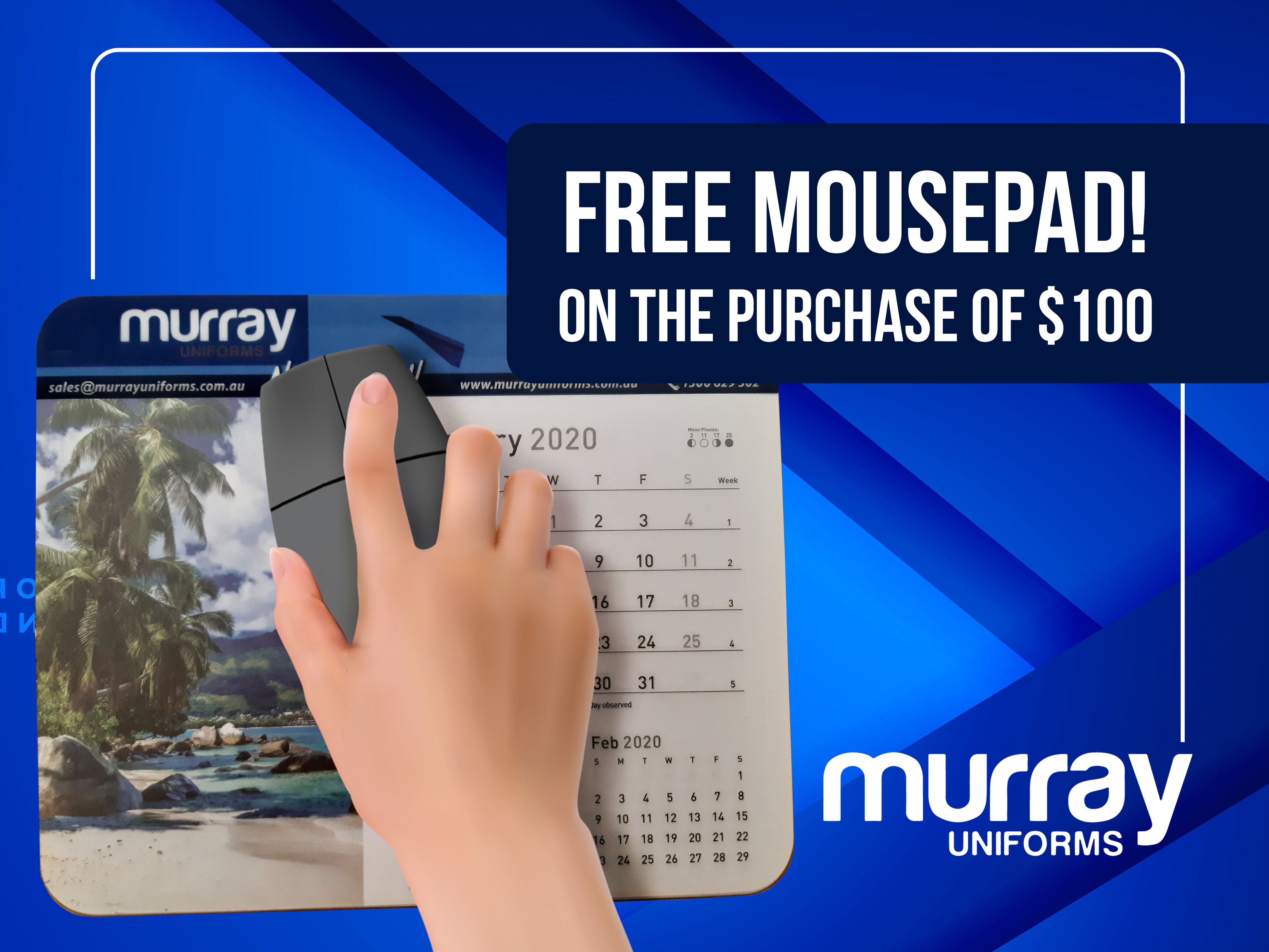 Any order over 100 we will give away free Mousepad