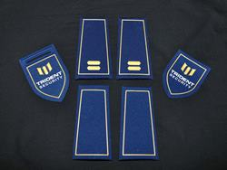 Badges and Epaulettes with embossed logo
