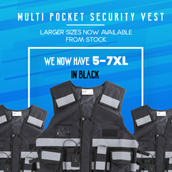 Multi Pocket Vest now in Larger sizes 5XL-7XL
