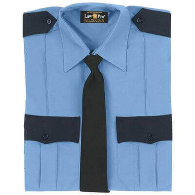 American Styling Contrast Epaulette + Pocket Flap Two Tone Shirt   Long Sleeve