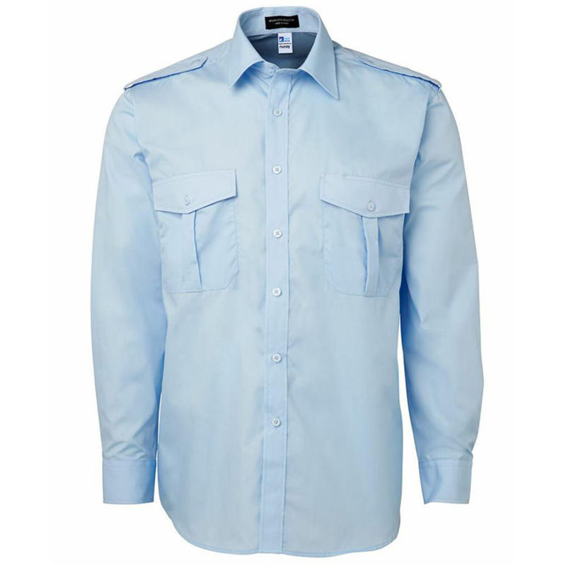 Australian Made Cotton Rich Shirt Pale Blue