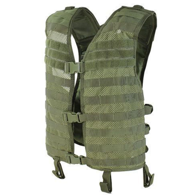 CONDOR MOLLE Mesh Hydration Vest w Padded Back Airsoft Sport Olive OD