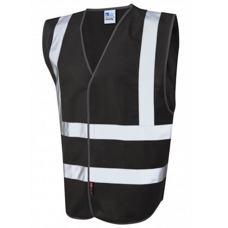 Coloured Hi Vis Vest Black