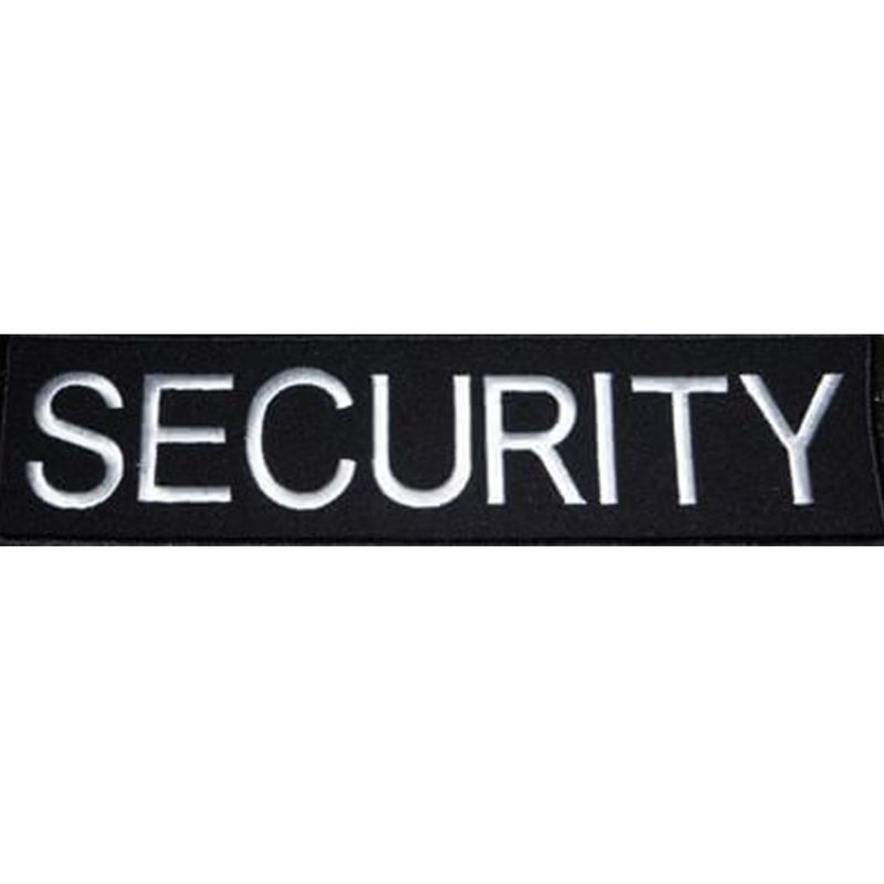 Embroidered Security Badge Black