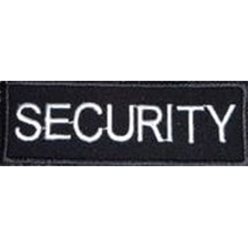 Embroidered Security Badge Small Black