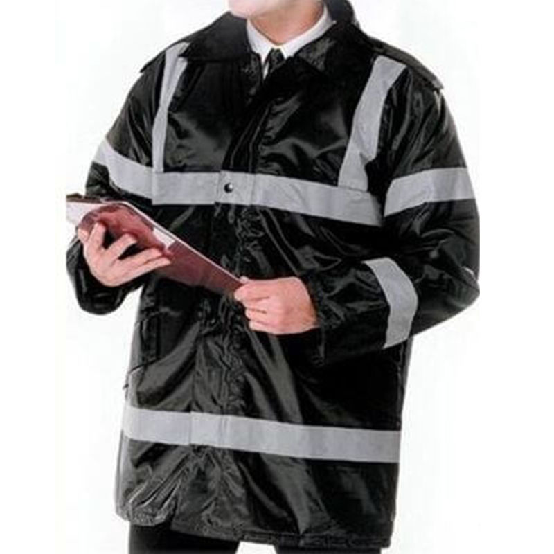 Epaulette Jacket with Reflective Tape Black
