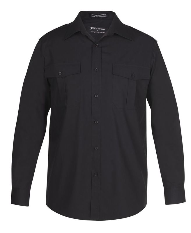 Epaulette Shirt LS Black