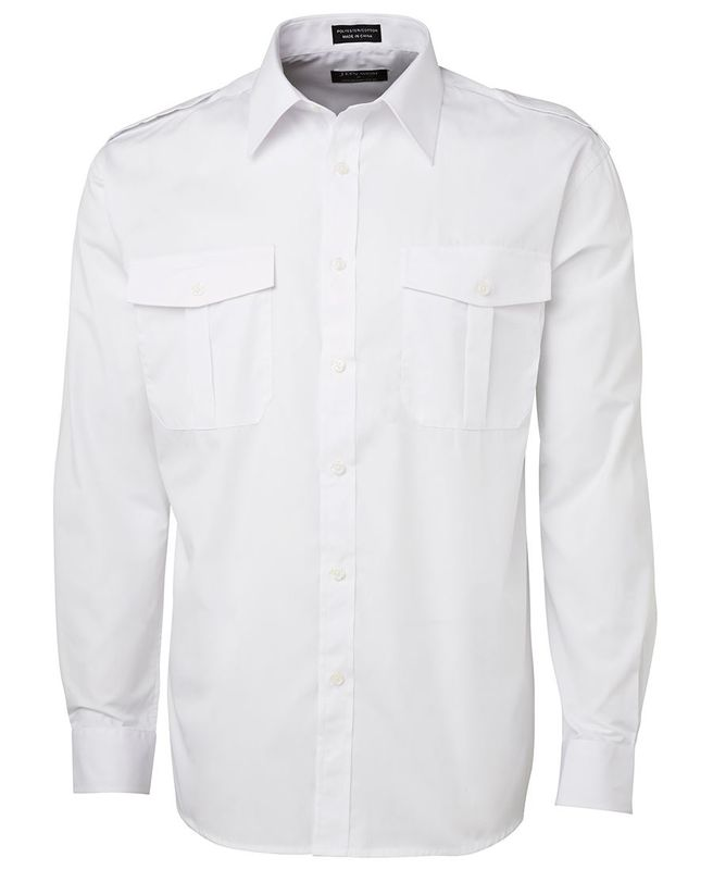 Epaulette Shirt LS White
