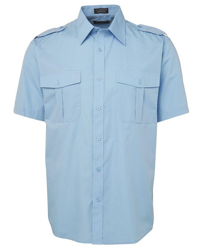Epaulette Shirt SS Blue
