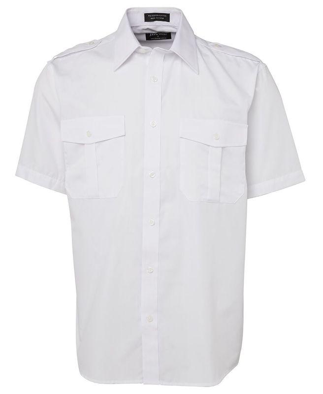 Epaulette Shirt SS White