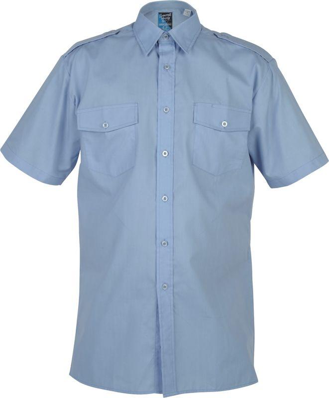 Epaulette Shirt  Short Sleeve Blue