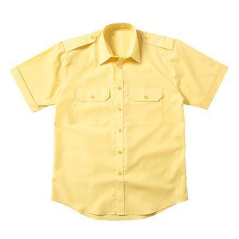 Epaulette Versatile Shirt Short Sleeve Gold