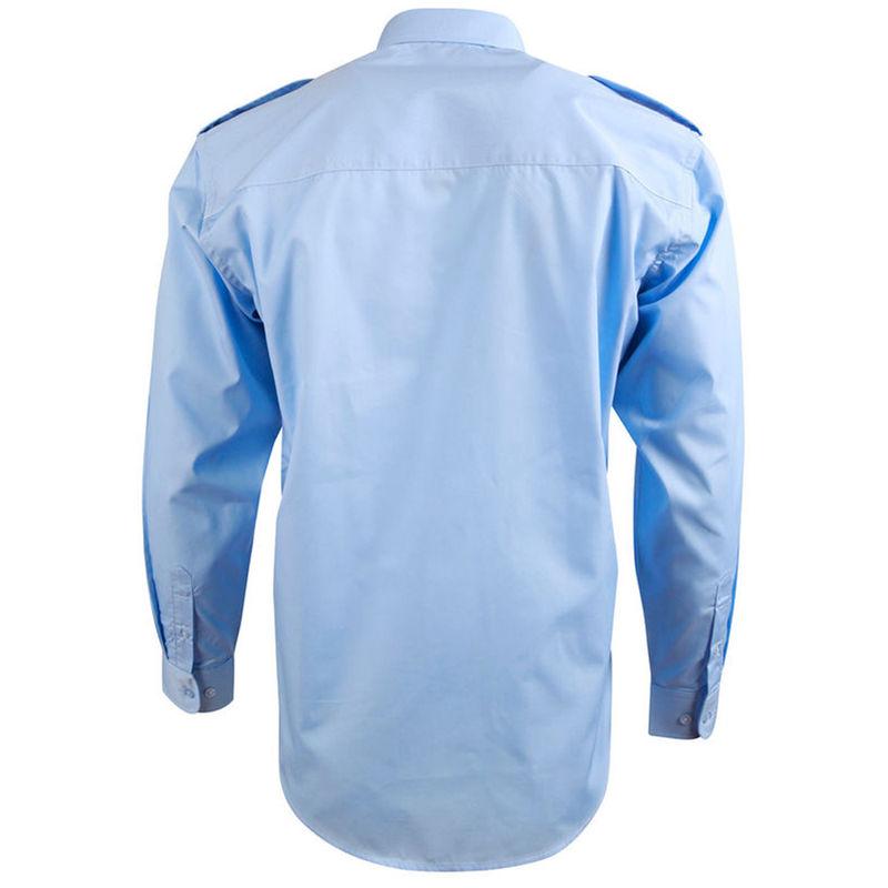 Epaulettes Superior Shirt   Long Sleeve Blue
