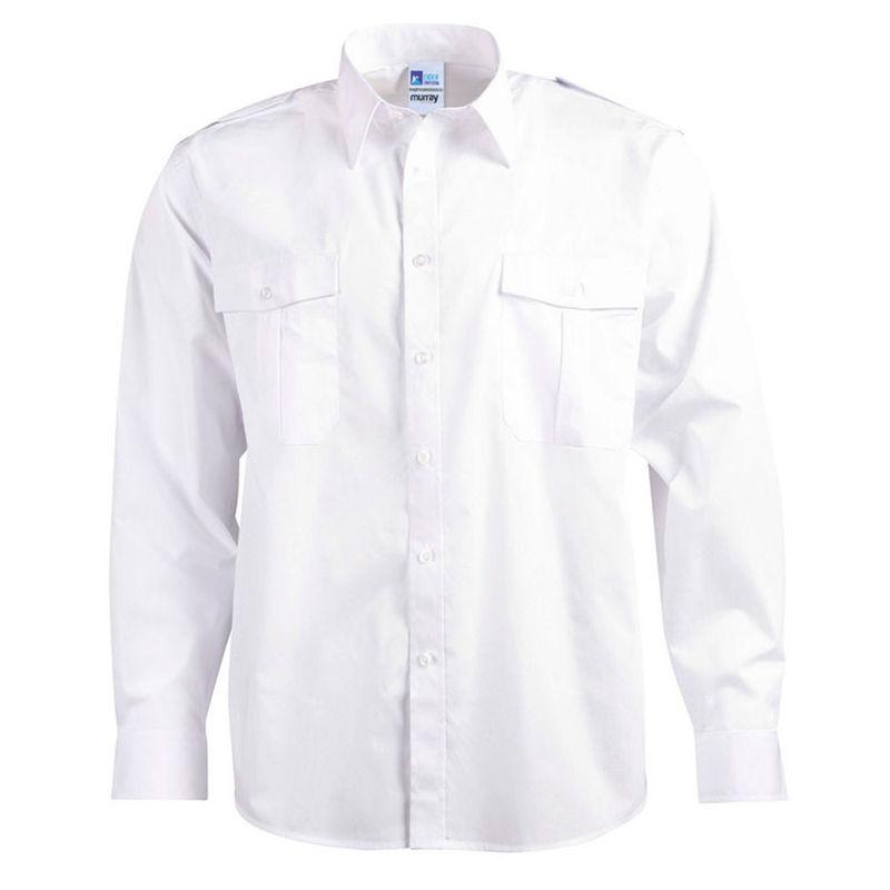 Epaulettes Superior Shirt   Long Sleeve White
