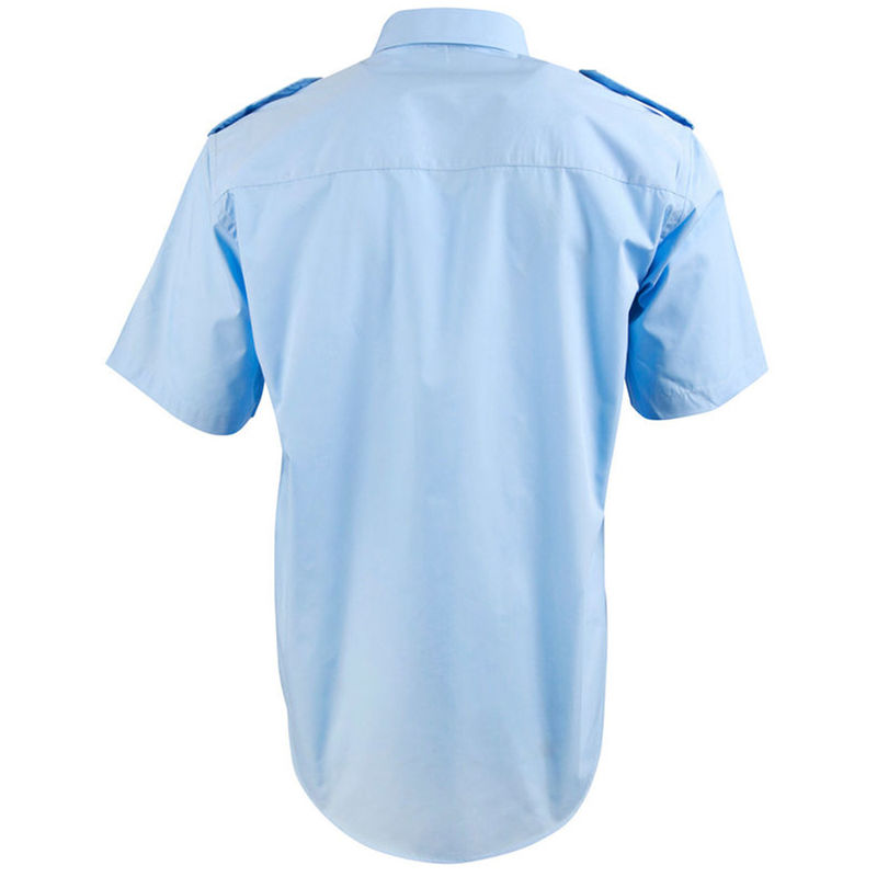 Epaulettes Superior Shirt   Short Sleeves Blue