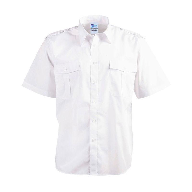 Epaulettes Superior Shirt   Short Sleeves White