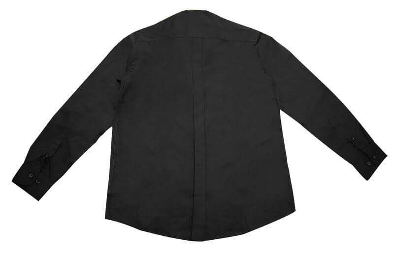 Epaulettes Versatile Shirt   Long Sleeves Back View