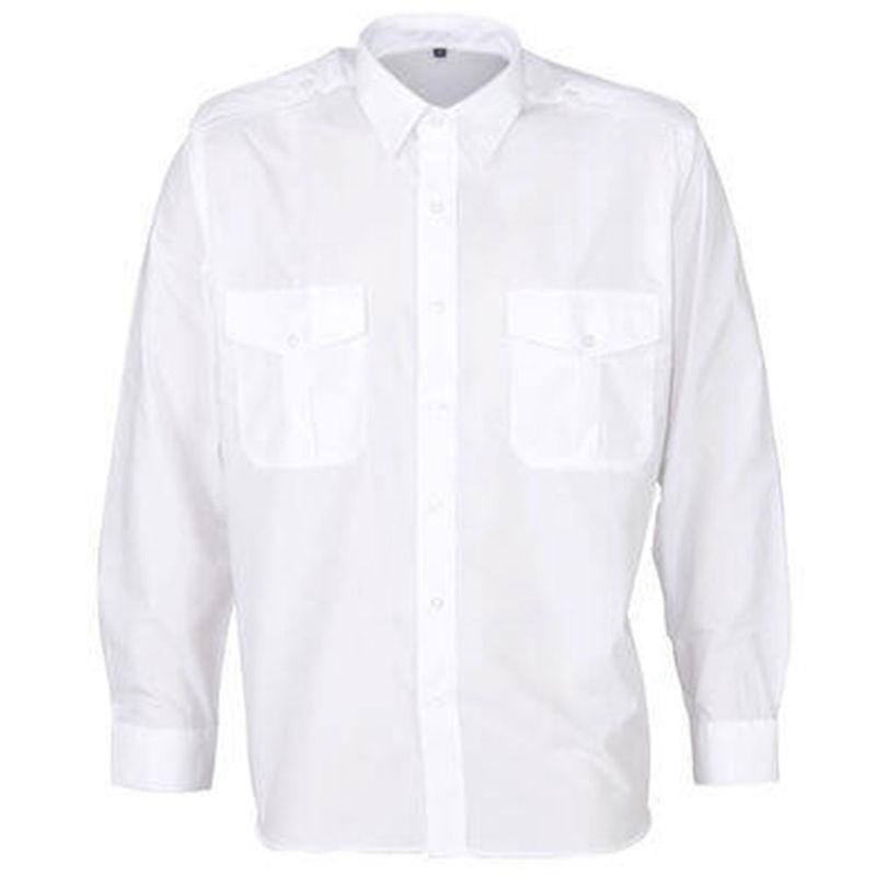 Epaulettes Versatile Shirt   Long Sleeves White