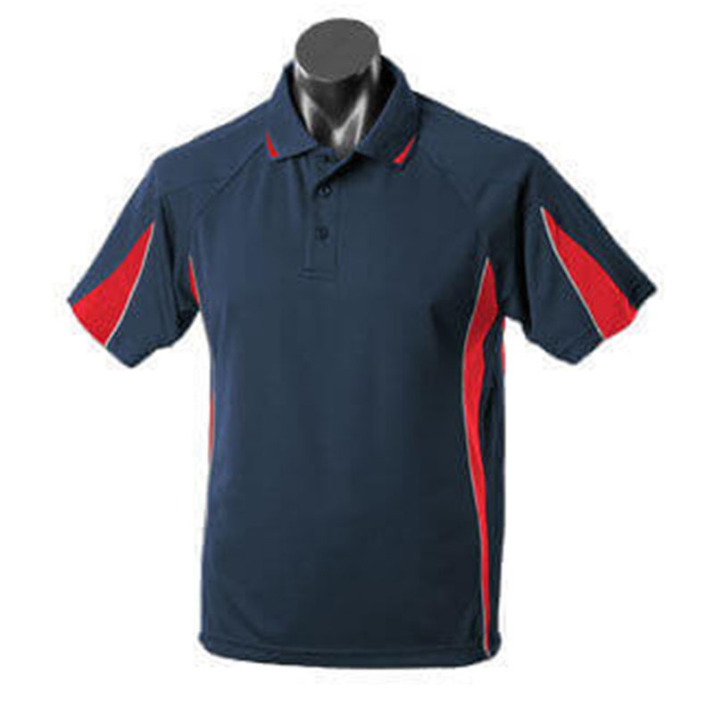 Eureka Men's Polo Navy/Red/Grey