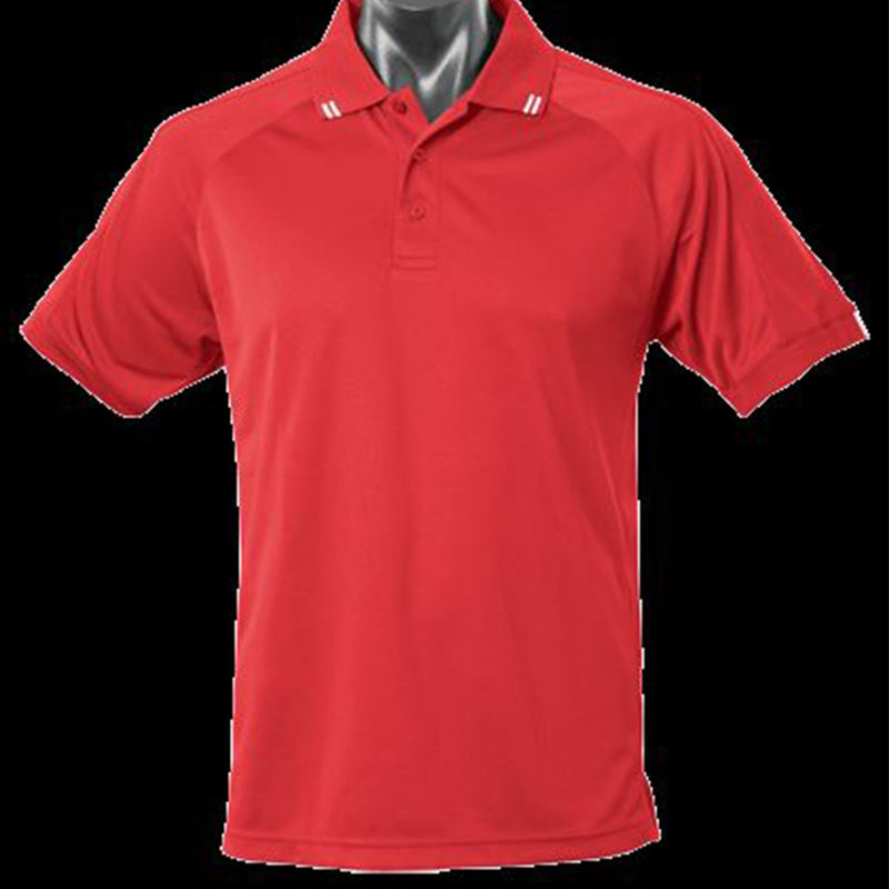Flinders Mens Polo Red/White