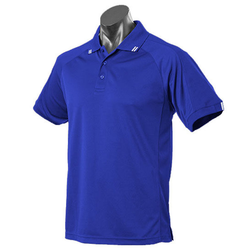 Flinders Mens Polo Royal/White