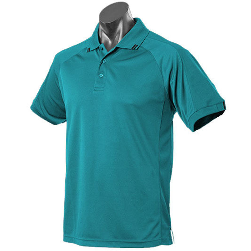Flinders Mens Polo Teal/Black