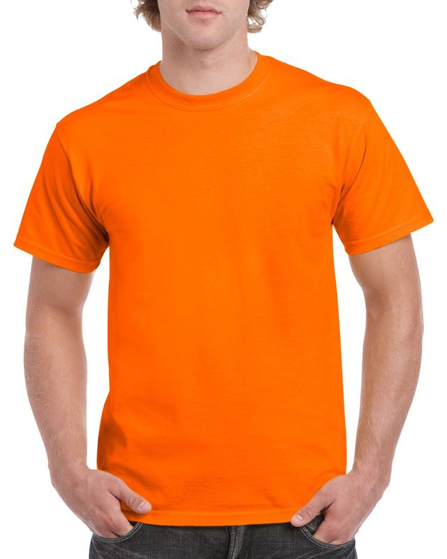 Gildan Men+39s Classic Short Sleeve T Shirt Safety Orange