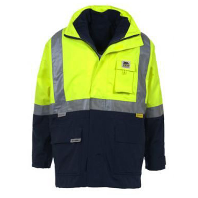 Hi Vis Mesh Lined Jacket Yellow/Navy