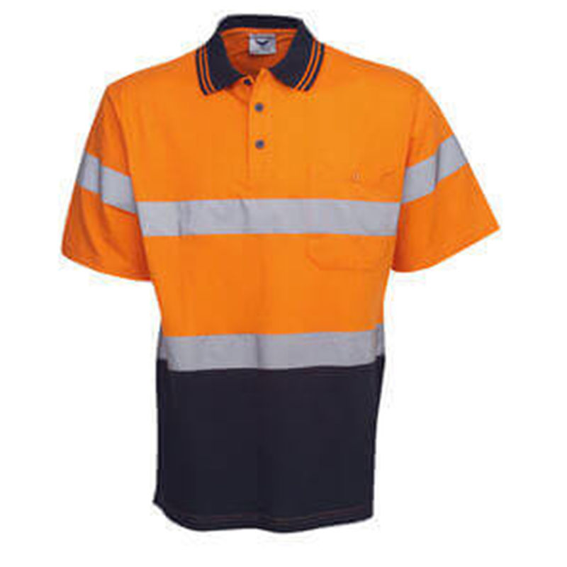 Hi Vis Reflective Orange/Navy Polo