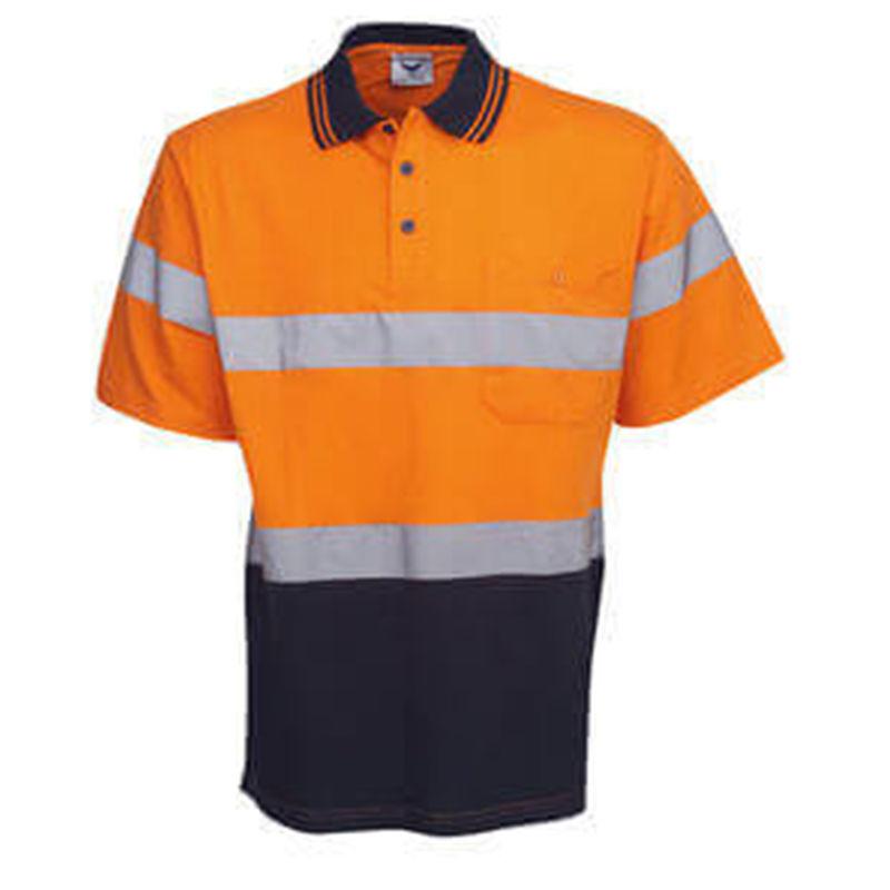 Hi Vis Reflective Orange/Navy Polo