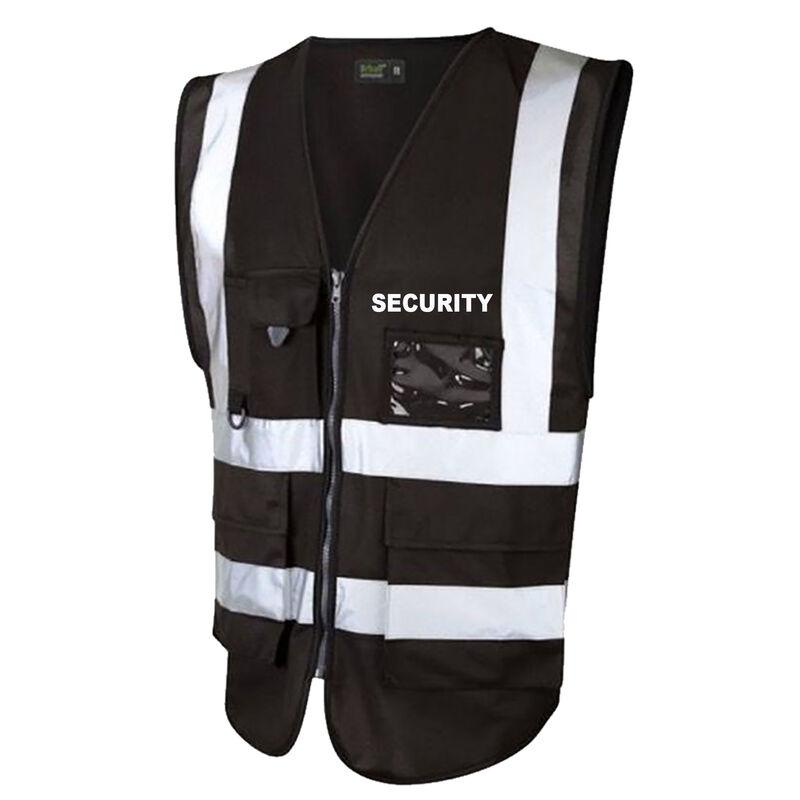 Hi Vis Superior Vest Security Black