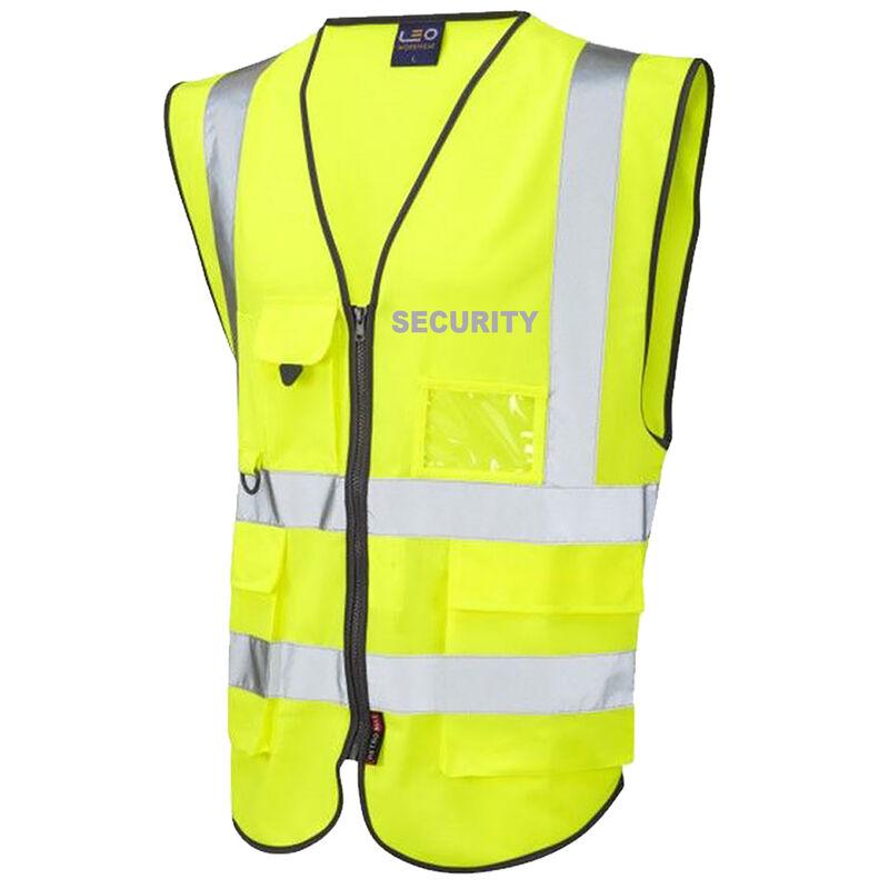 Hi Vis Superior Vest Security Yellow