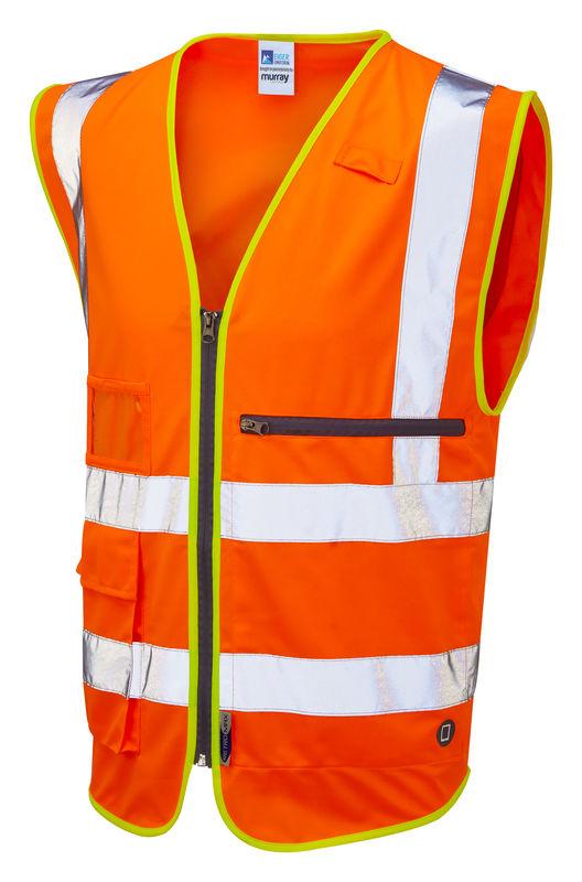 Hi Vis Superior Waistcoat with Tablet Pocket Orange