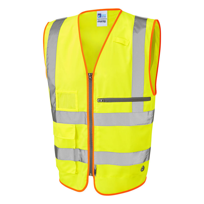 Hi Vis Superior Waistcoat with Tablet Pocket Yellow