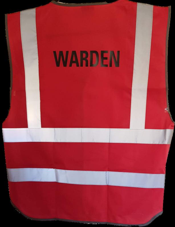 Hi Vis Warden Vest Rear Print