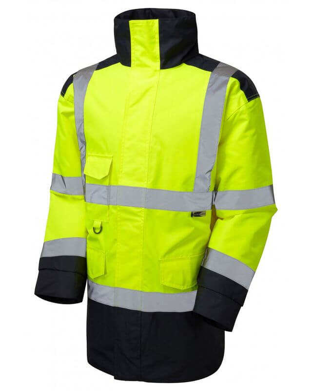 Hi Visibility Two Tone Traffic Jacket YellowNavy