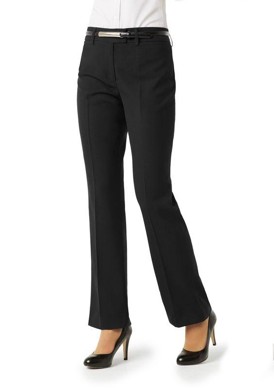 Ladies Classic Flat Front Pant Black