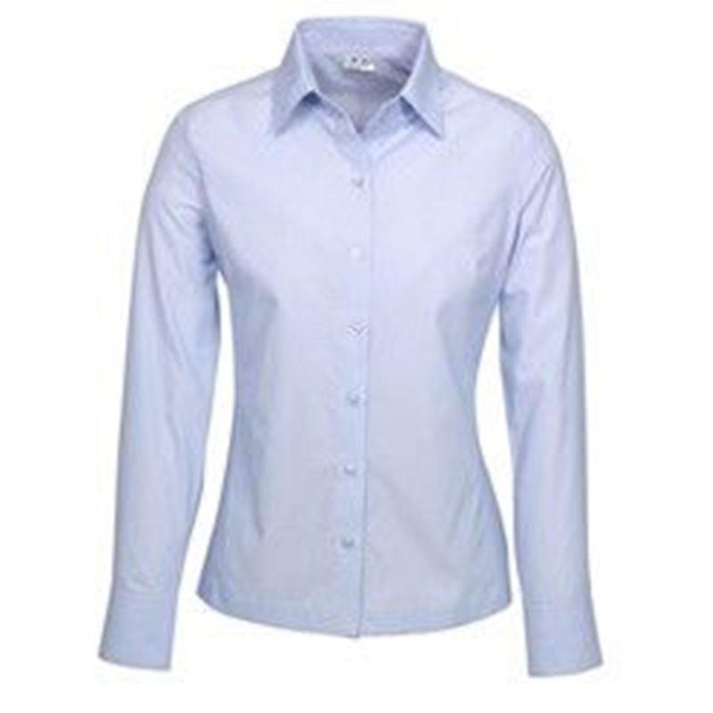 Ladies Long Sleeve Ambassador Shirt Blue