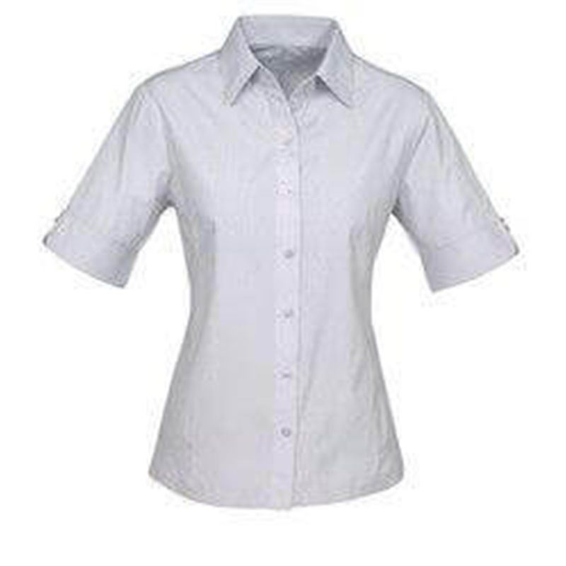 Ladies Short Sleeve Ambassador Shirt Silver Grey
