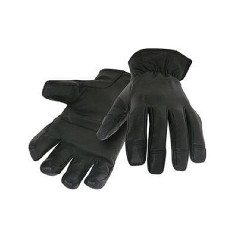 Leather Duty Cut and Puncture Resistant Gloves Black