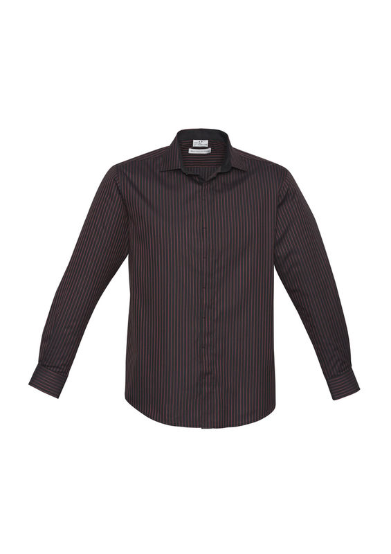 MENS RENO STRIPE LONG SLEEVE SHIRT Port Wine