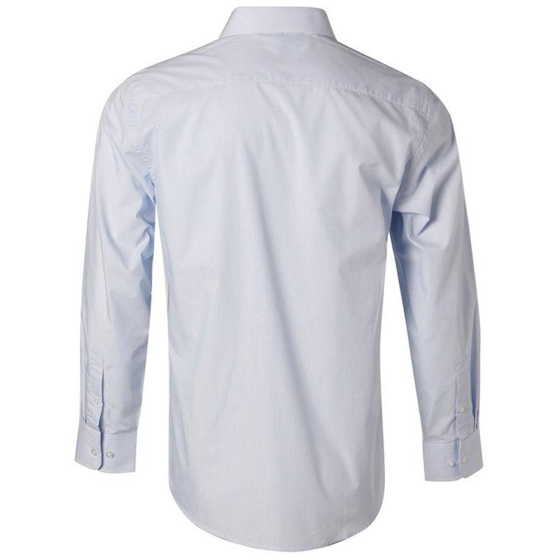 Men+039s Fine Stripe Long Sleeve Shirt Pale Blue