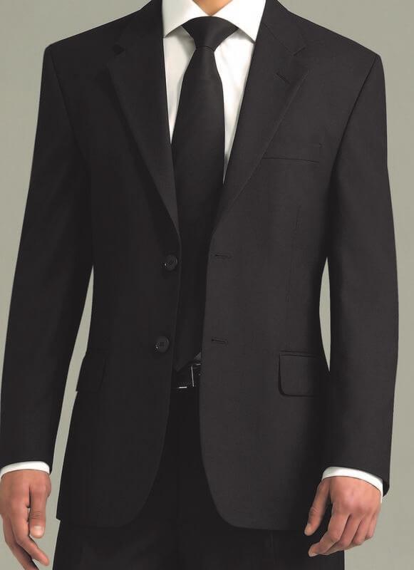 Men+39s Single Breasted Jacket Black