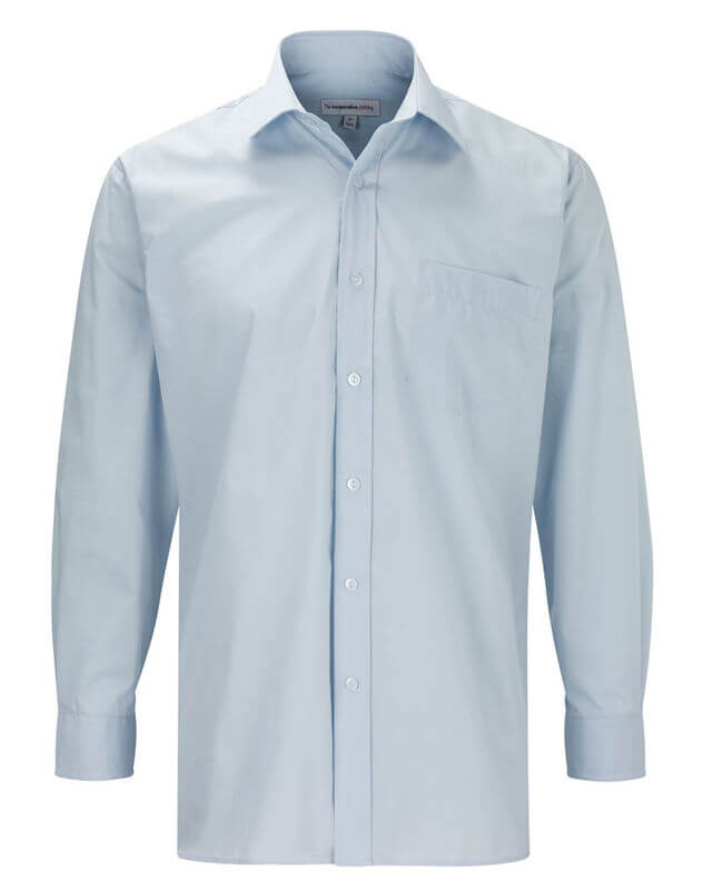 Menand39s Business Long Sleeve Shirt  Blue