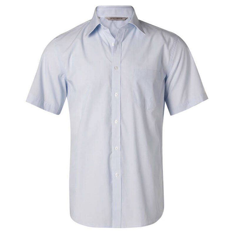 Menand39s Fine Stripe Short Sleeve Shirt