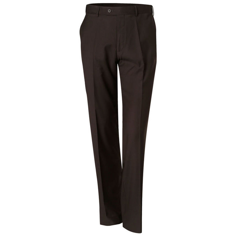 Menand39s Polyviscose Flexi Waist Stretch Pants Charcoal