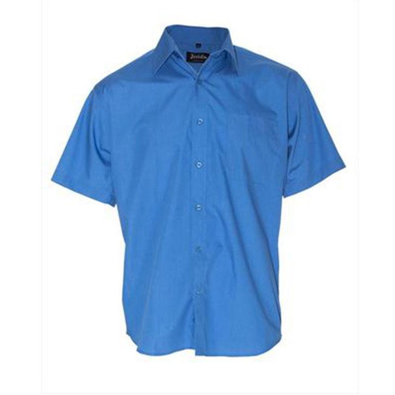 Mens Business Shirt Mid Blue