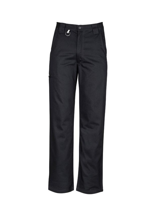 Mens Plain Utility Pant Black