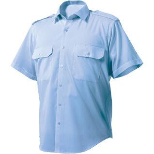 Mens Short Sleeve Patrol Shirt Marl Blue