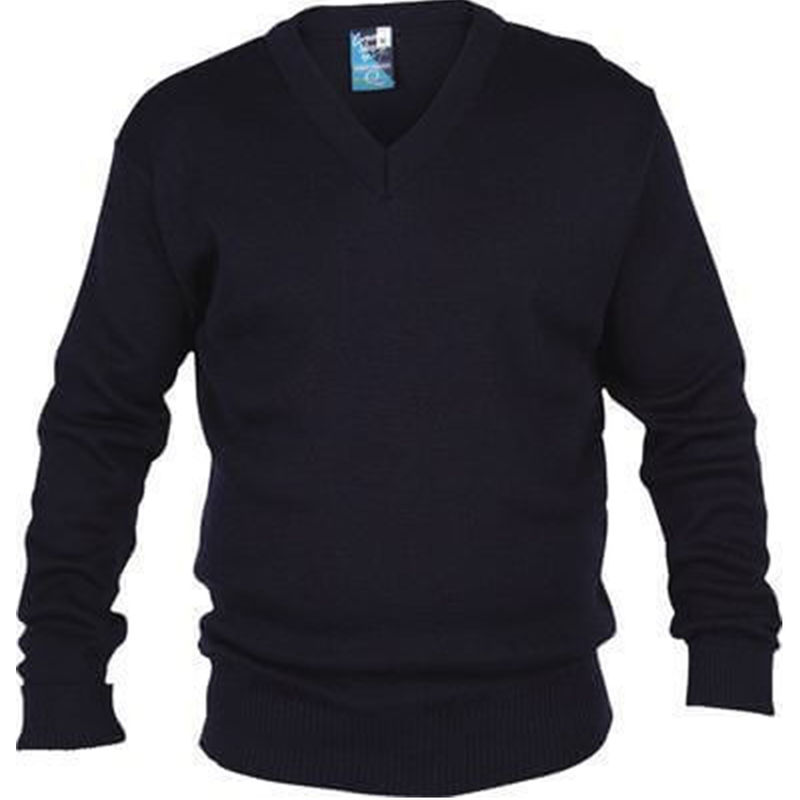 Mens Wool Mix Jumper Navy